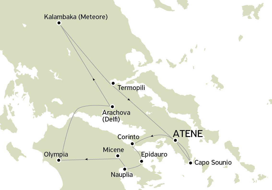 Tour Grecia Classica e Meteore Speciale 7 giorni/6 notti - Sabato-Venerdì