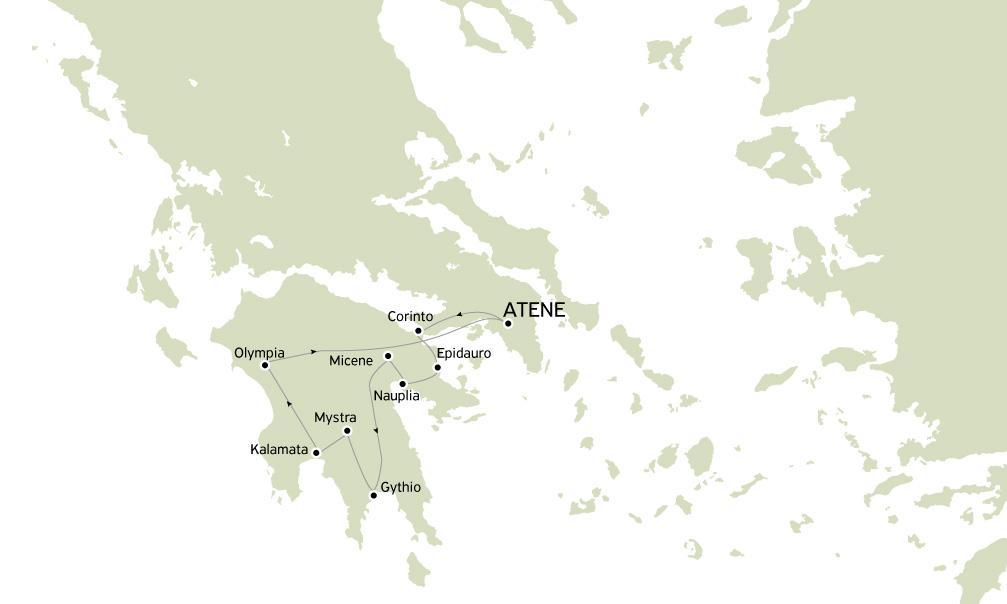 Argolide Olympia e Mystras 3 giorni con guida in Italiano