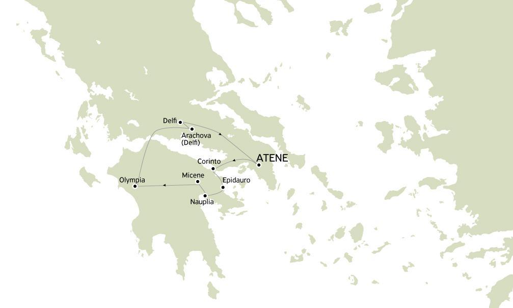 Argolide Olympia e Delfi 3 giorni con guida in Italiano