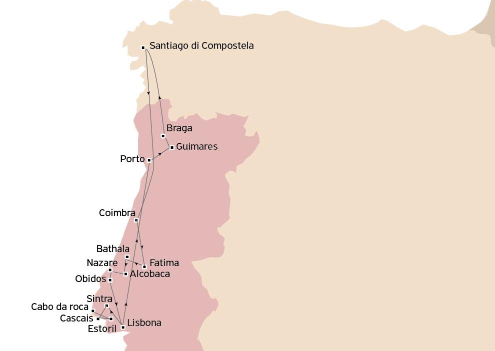 Tour d'autore del Portogallo e Santiago de Compostela da Lisbona