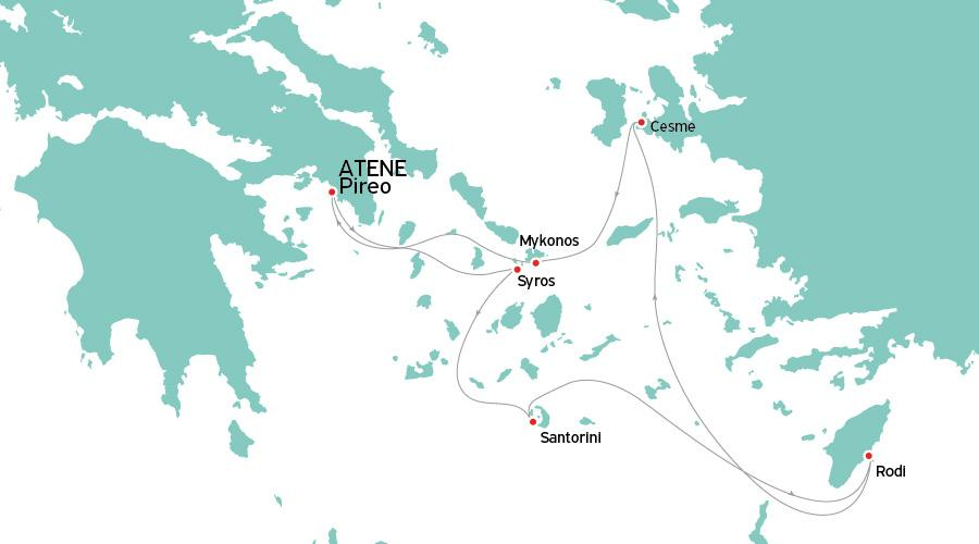 Crociera Miray 5 giorni/ 4 notti da Atene (Pireo)