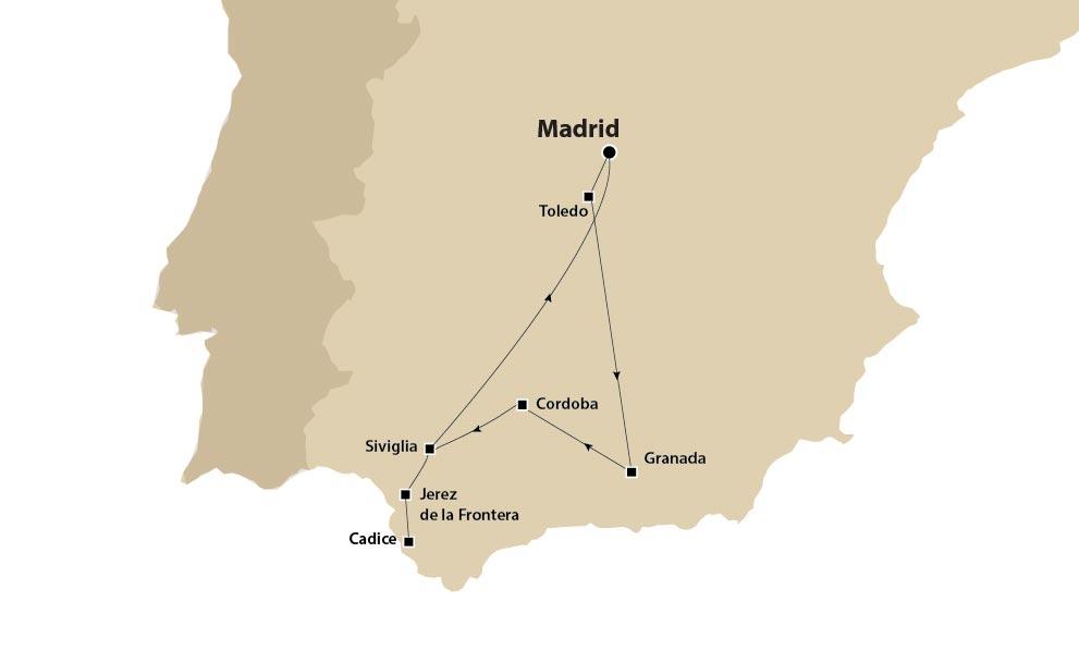Tour d'autore Madrid, Andalusia e Toledo da Madrid