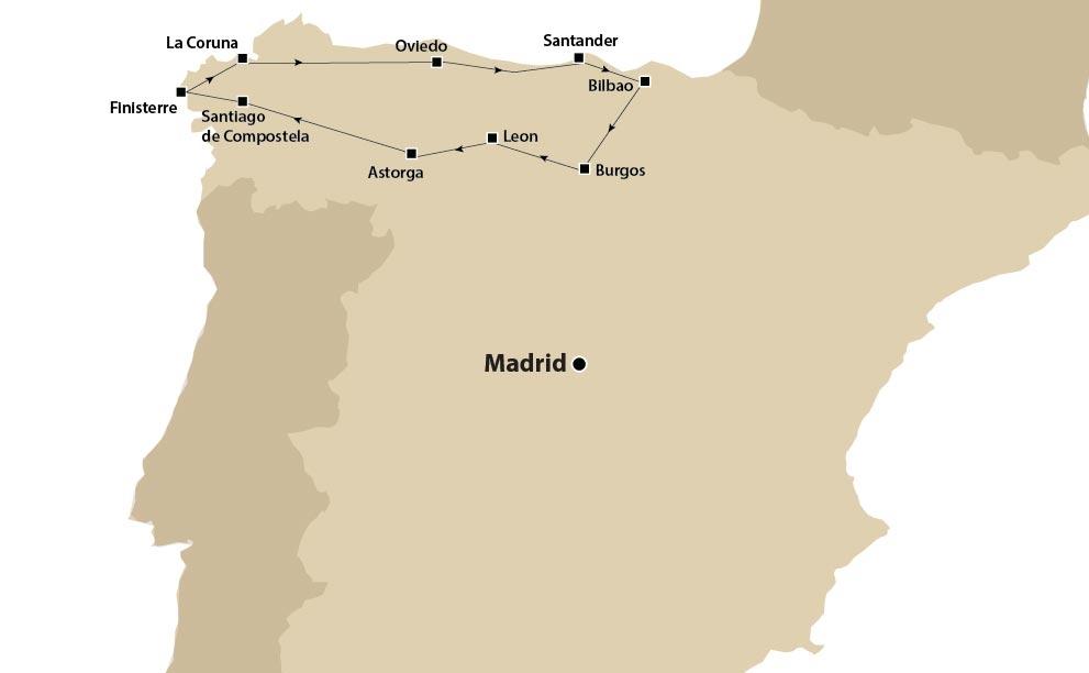 Tour d'autore Spagna del Nord e Santiago de Compostela