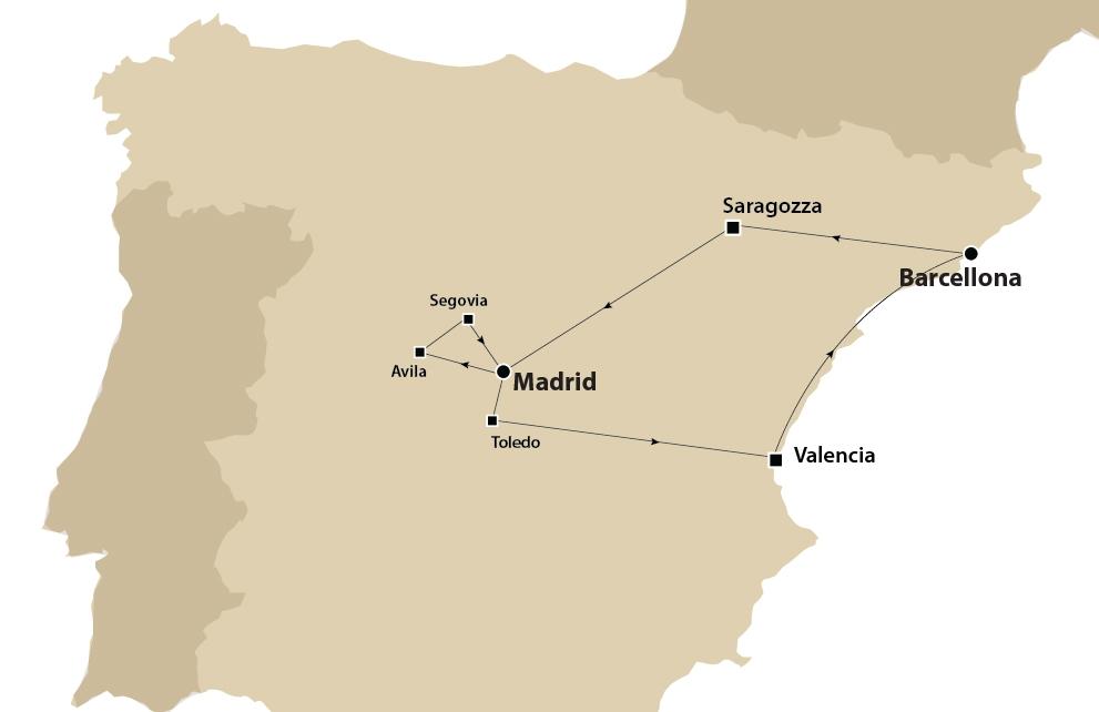 Tour d'autore Triangolo D'Oro Da Barcellona